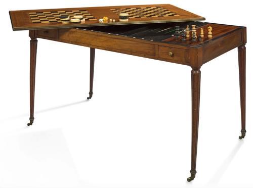 Louis XVI mahogany Tric/Trac table