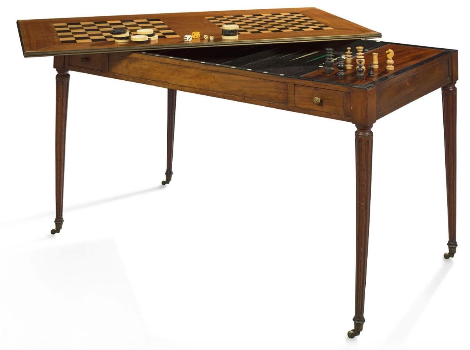 Louis XVI mahogany Tric/Trac table