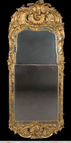 A GOOD MID 18TH CENTURY SWEDISH MIRROR