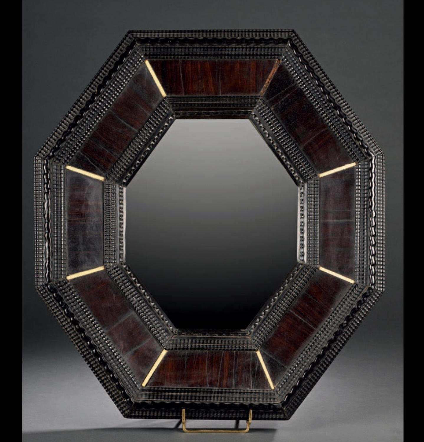 A  GOOD OCTAGONAL MIRROR