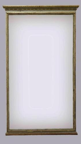 A FINE ARCHITECTURAL LOUIS XVI PERIOD MIRROR