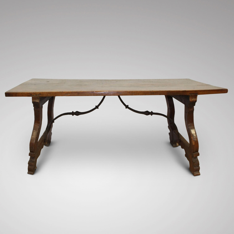 A 17TH CENTURY WALNUT SPANISH TABLE