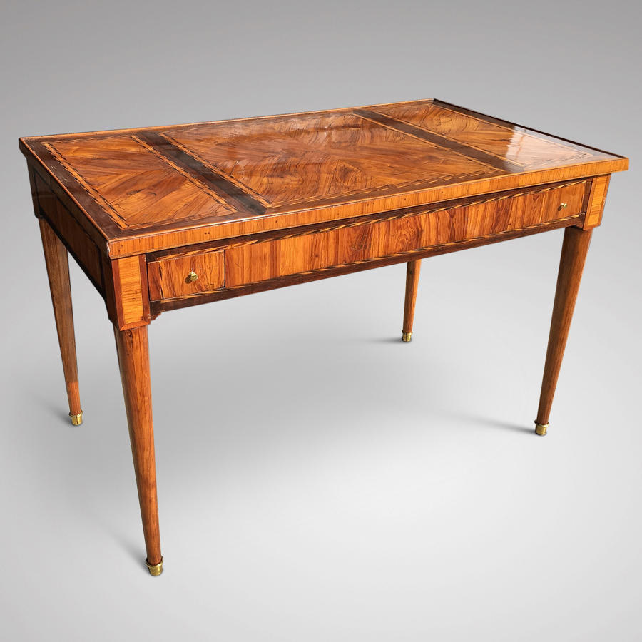 A LOUIS XVI PERIOD PARQUETRY TRIC/TRACTABLE