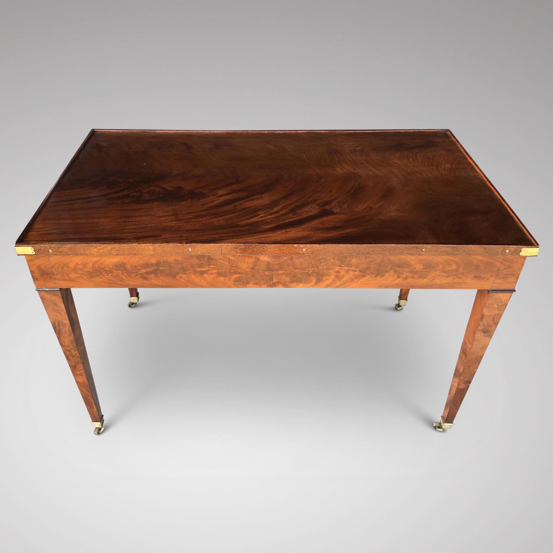 A LOUIS XVI PERIOD MAHOGANY TRIC TRAC TABLE in Furniture