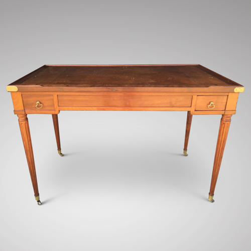 A GOOD LOUIS XVI PERIOD MAHOGANY TRIC/TRAC TABLE