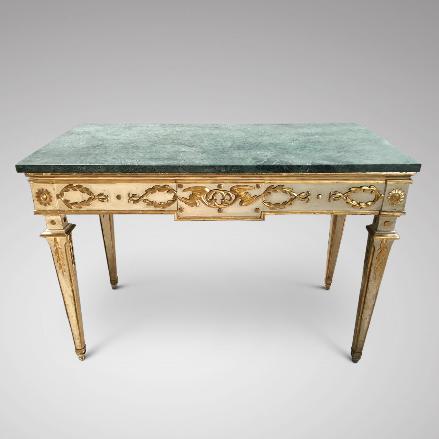 An 18th century Italian decorated neo-classical console table