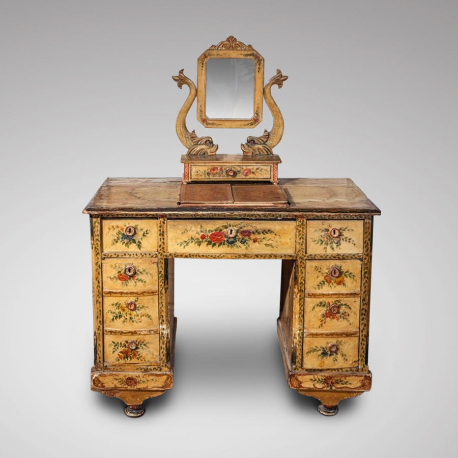 Early 19th century Italian decorated dressing table