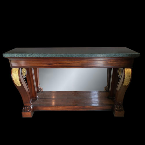 A MAHOGANY GILT BRONZE MOUNTED CONSOLE FRANCE C.1825