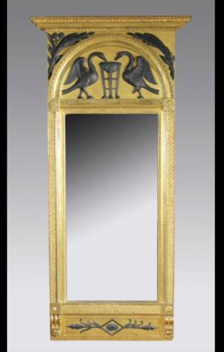 A FRENCH EMPIRE PERIOD MIRROR