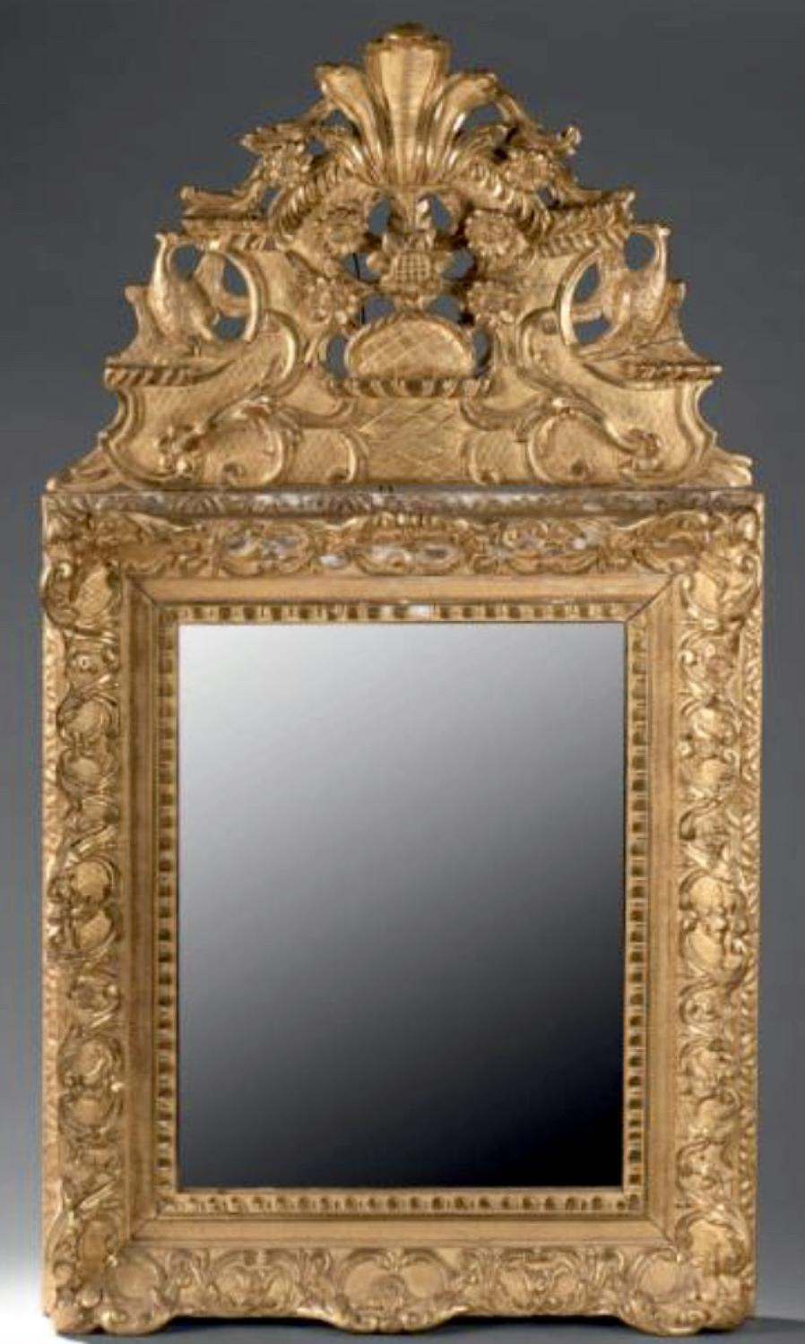 A LOUIS XIV PERIOD MIRROR