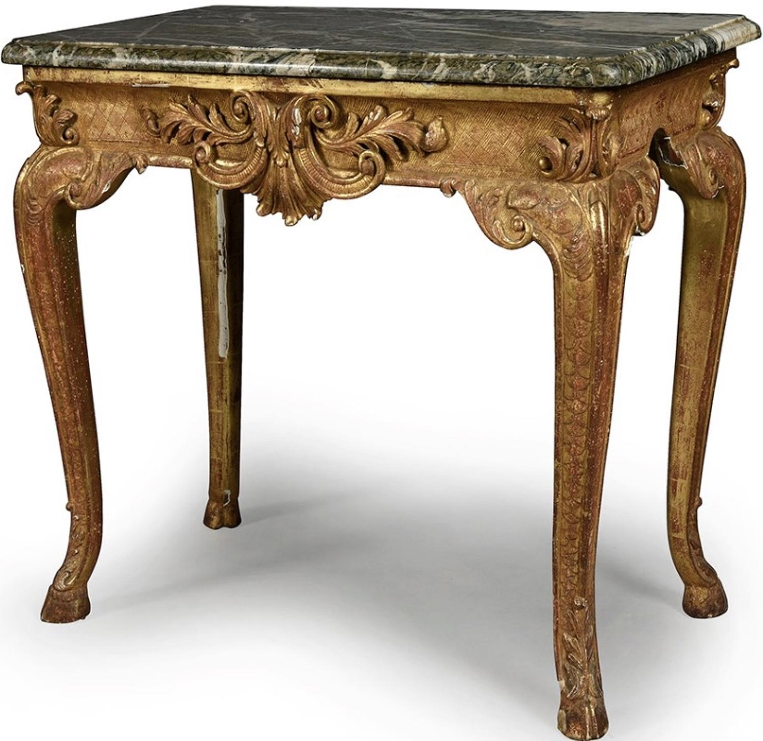 REGENCE PERIOD TABLE de MILIEU