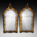 A PAIR OF 18TH CENTURY CARVED GILTWOOD MIRRORS - picture 1