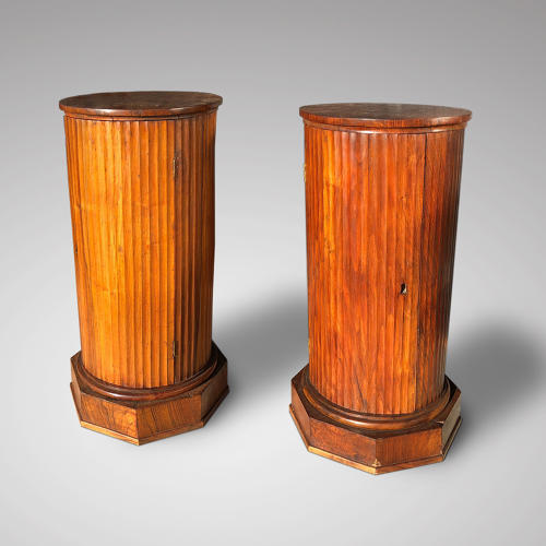 A PAIR OF EARLY 19TH CENTURY REEDED COLUMNS