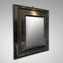 A 17TH CENTURY EBONY CUSHION MIRROR - picture 2