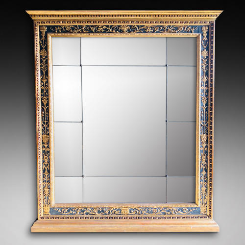AN IMPORTANT OVERMANTLE MIRROR IN THE RENAISSANCE MANNER