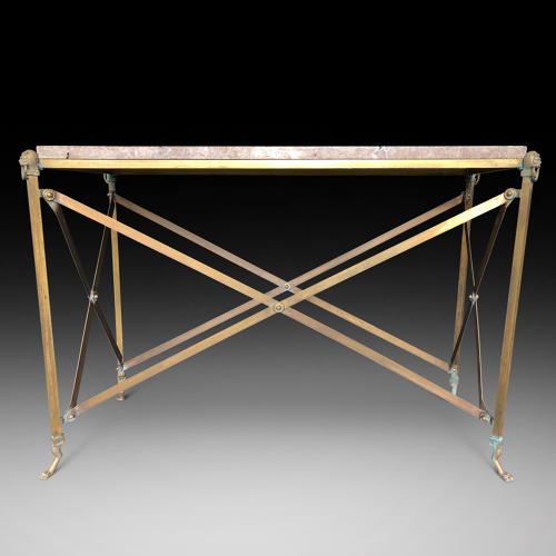 A BRONZE CONSOLE TABLE