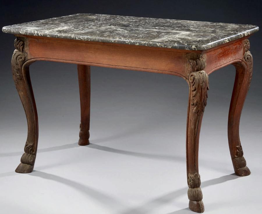 A LOUIS XIV PERIOD TABLE A GIBIER