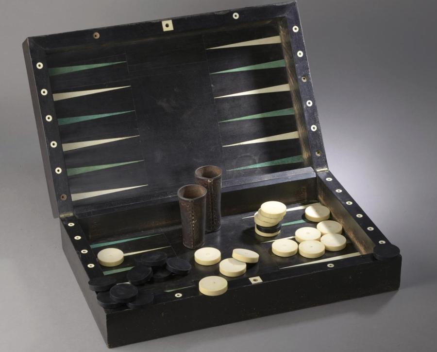 A LOUIS XVI PERIOD EBONY GAMES BOX