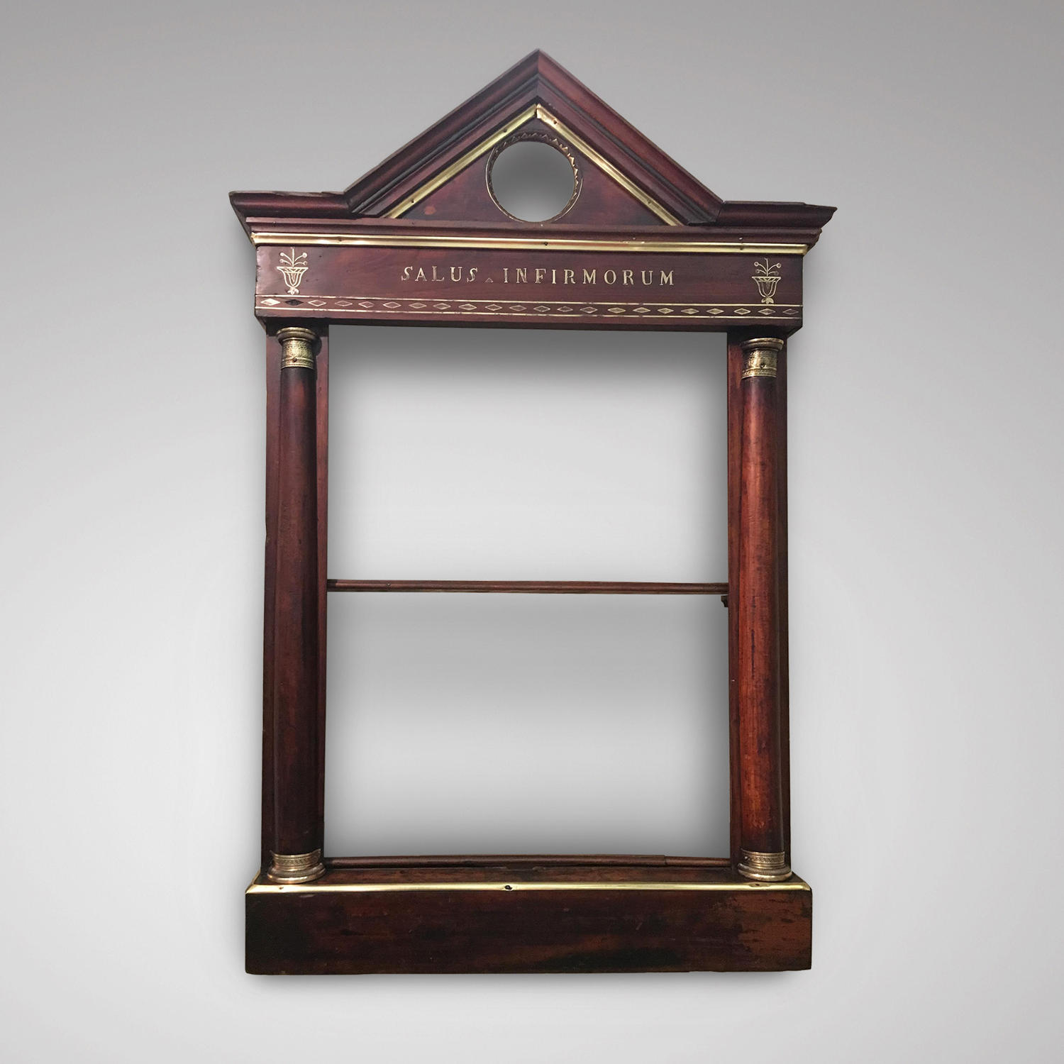 A SET OF MAHOGANY SHELVES C 1800
