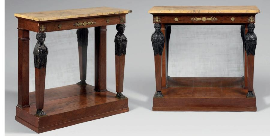 A PAIR OF IST EMPIRE PERIOD CONSOLES