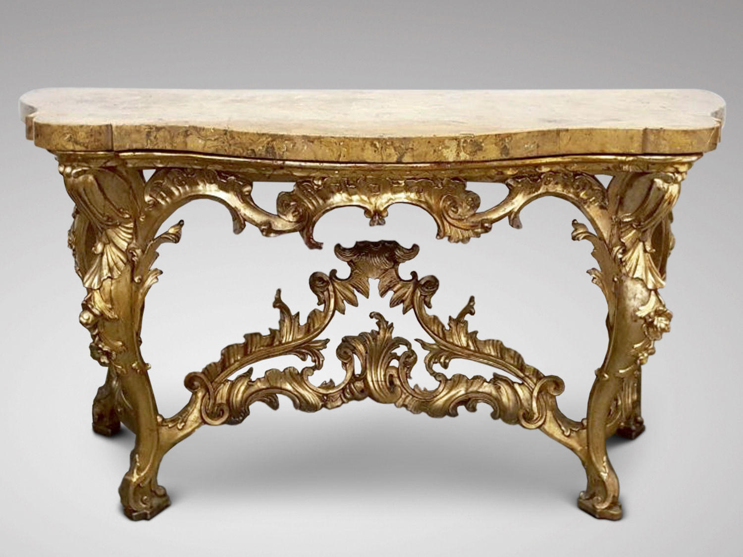Italian carved gilt wood console