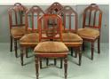 A SET OF 6 GOTHIC DINING CHAIRS - picture 1