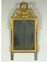 A CARVED GILTWOOD LOUIS XVI PERIOD MIRROR - picture 1