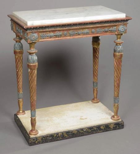 AN EARLY 19TH CENTURY SWEDISH CONSOLE