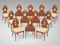 A SET OF 12 CHAIRS NEO GOTHIC C 1820 - picture 1