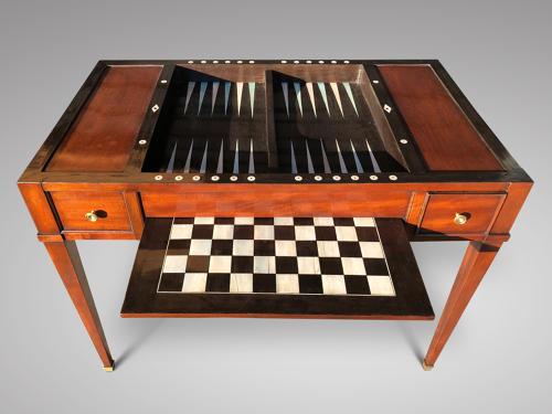 A GOOD MAHOGANY TRIC/TRAC TABLE C 1800