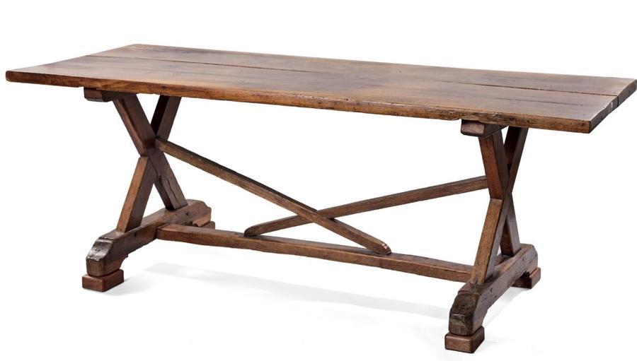AN 18TH CENTURY TRESTLE TABLE
