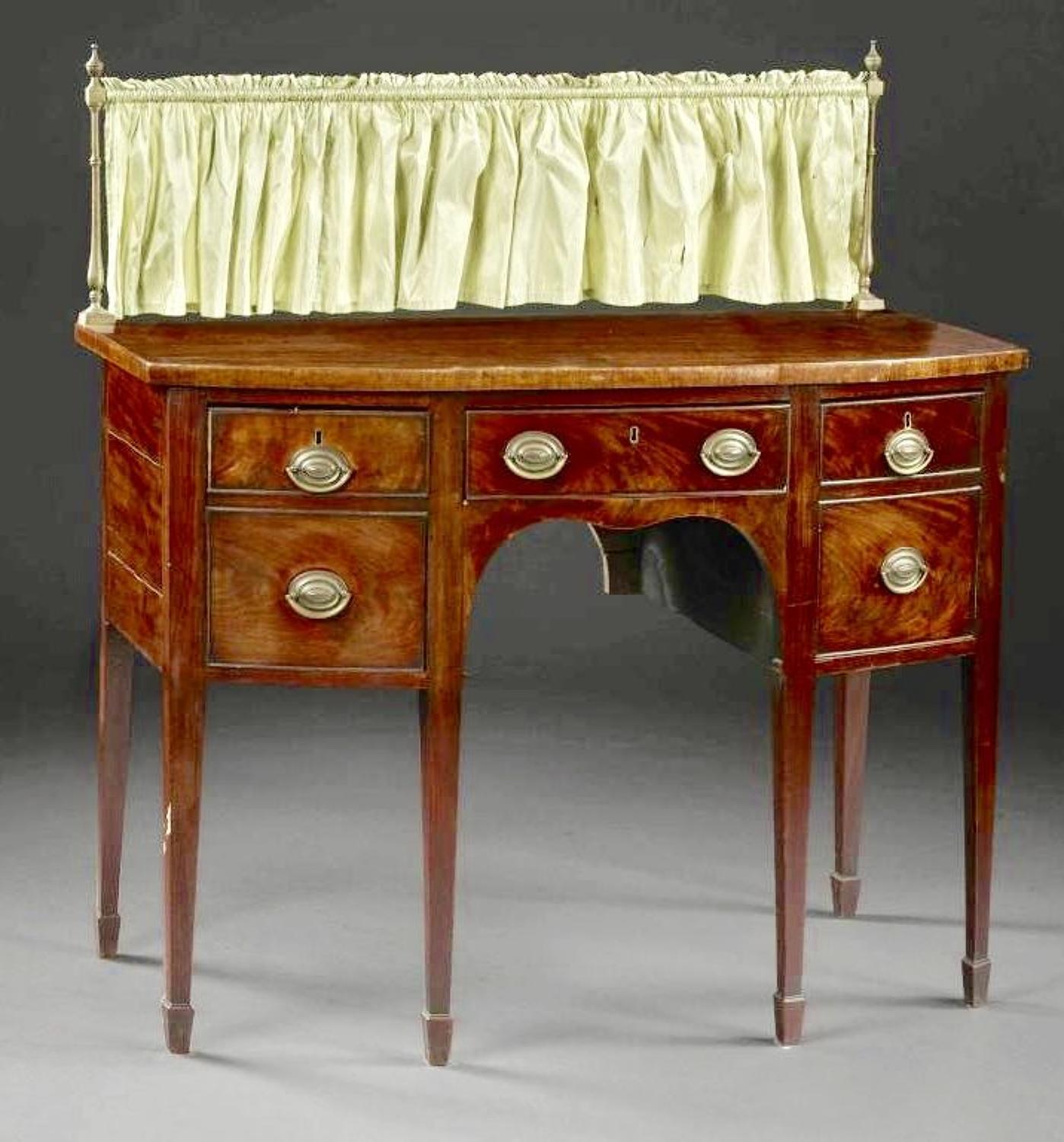 A LATE 18TH CENTURY ENGLISH MAHOGANY SIDEBOARD