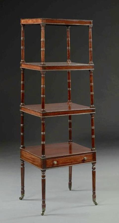 A LATE 18TH CENTURY MAHOGANY WHATNOT