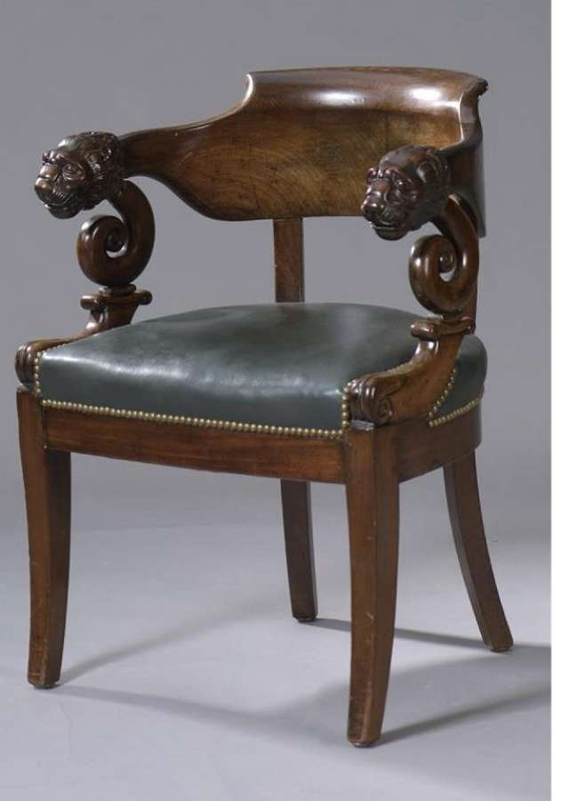 A FRENCH. EMPIRE PERIOD FAUTEUIL DE BUREAU