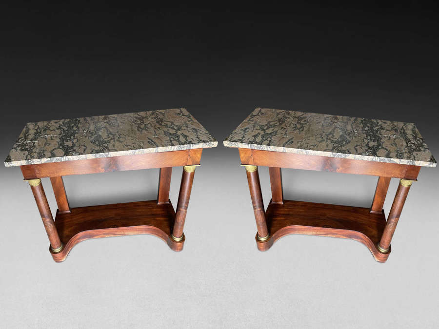 A PAIR OF EMPIRE PERIOD CONSOLES